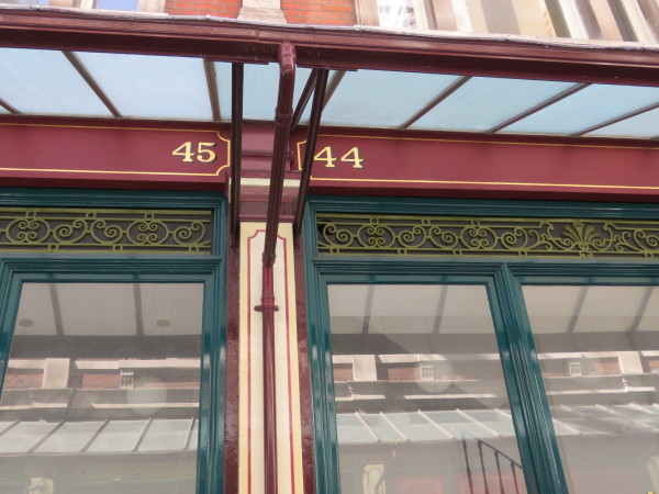 """ 44 45 at Leavenhall Market"""