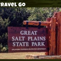 Family Travel Go - Great Salt Plains State Park Entrance sign