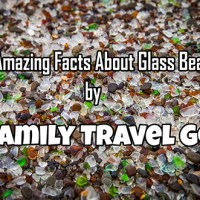 Photo of Glass Beach pebbles with the title.