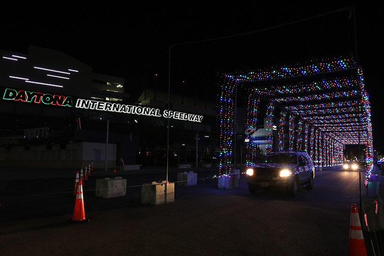 Magic of Lights at Daytona International Speedway in Florida