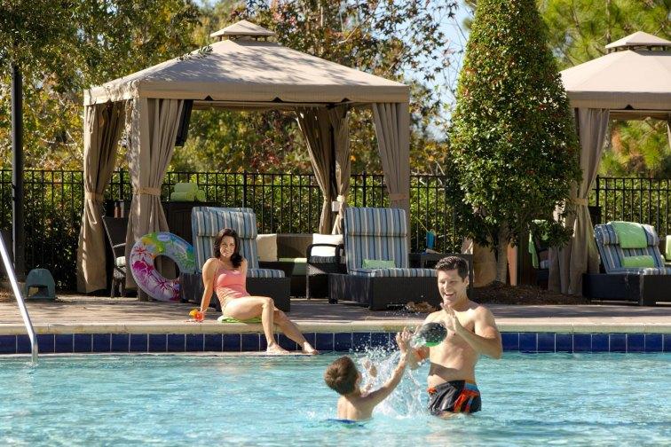 Family in Pool at Hilton Orlando Bonnet Creek