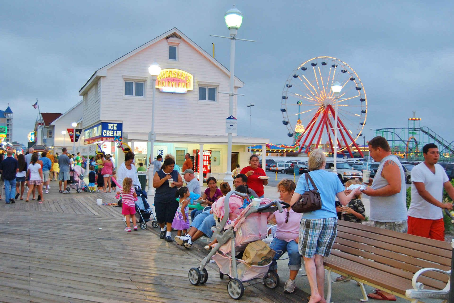 Ocean City, Maryland Boardwalk; Courtesy of Lissandra Melo/Shutterstock.com