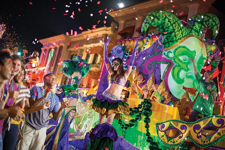 Mardi Gras at Universal Studios Orlando; Courtesy Universal Studios Orlando