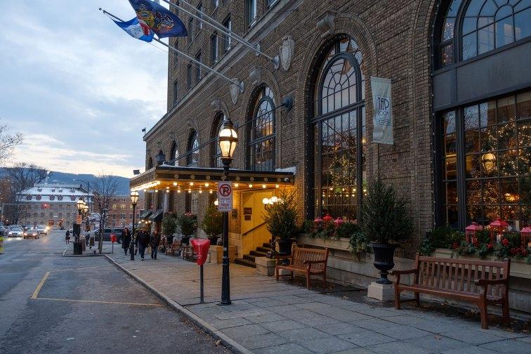 Historic Hotel Bethlehem at Christmas; Courtesy of Discover Lehigh Valley