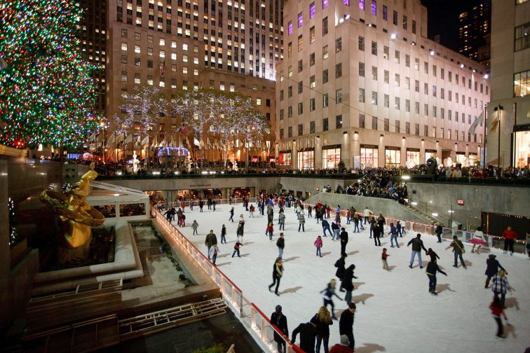 Ice Skating at Rockefeller Center in New York City