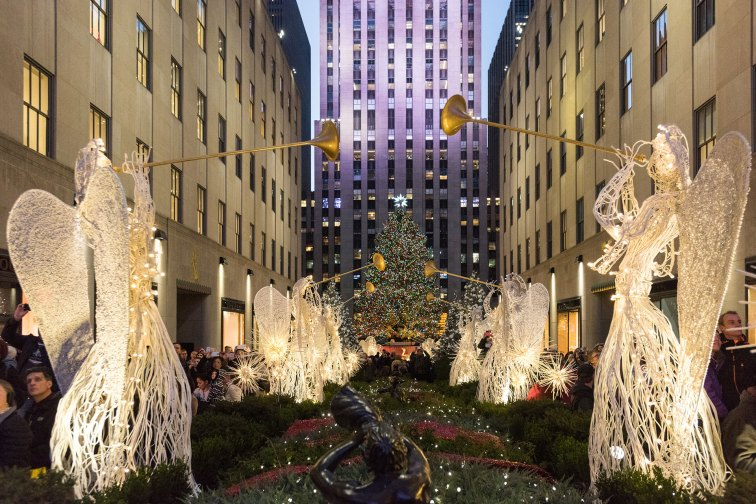 Rockefeller Center in NYC at the Holidays