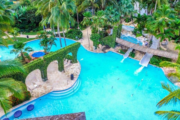 Water Park at Hilton Rose Hall Resort & Spa; Courtesy of Hilton Rose Hall Resort & Spa