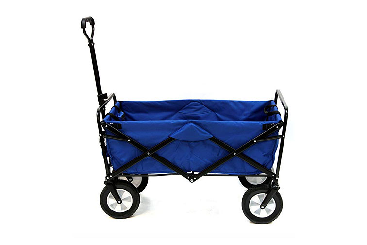 Mac Sports Collapsible Folding Outdoor Utility Wagon in Blue