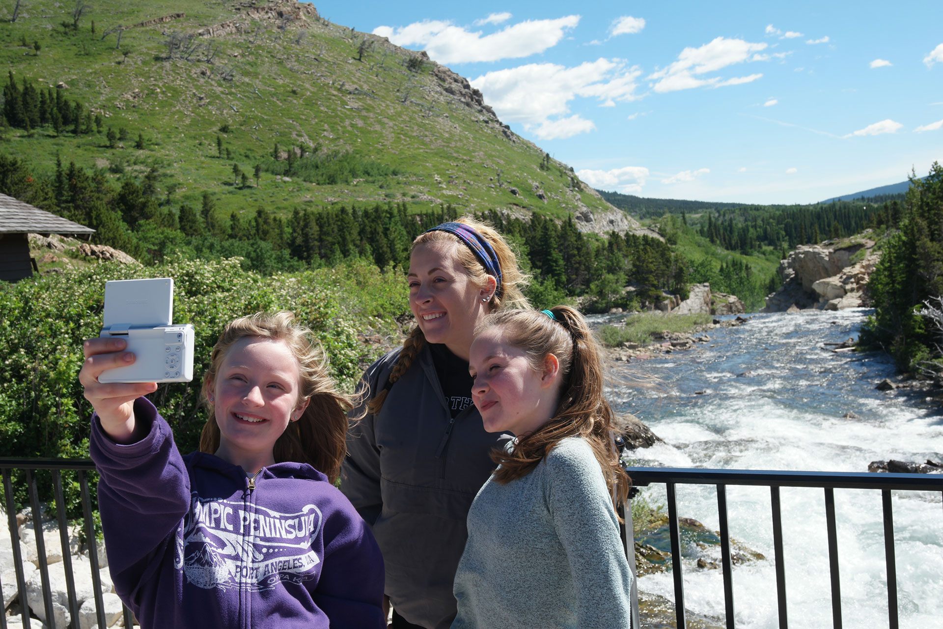 Teen Girls Taking Selfie; Courtesy of Jeff Bogle