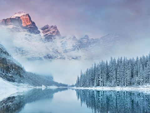 Moraine Lake in Canada; Courtesy of Michal Balada/Shutterstock.com