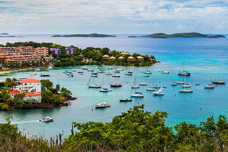 st john bay in virgin islands; Courtesy of By Nick Lundgren/SHutterstock