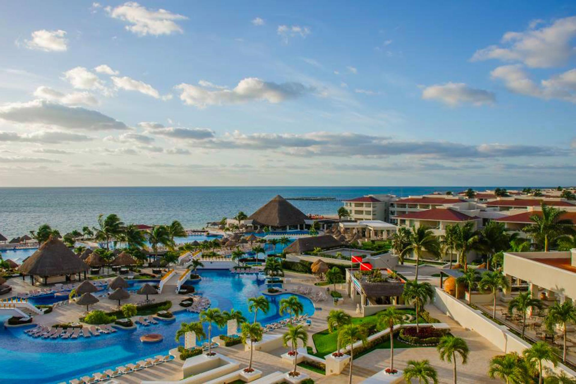 Aerial View of Moon Palace - Cancun, MX - All Inclusive Resort