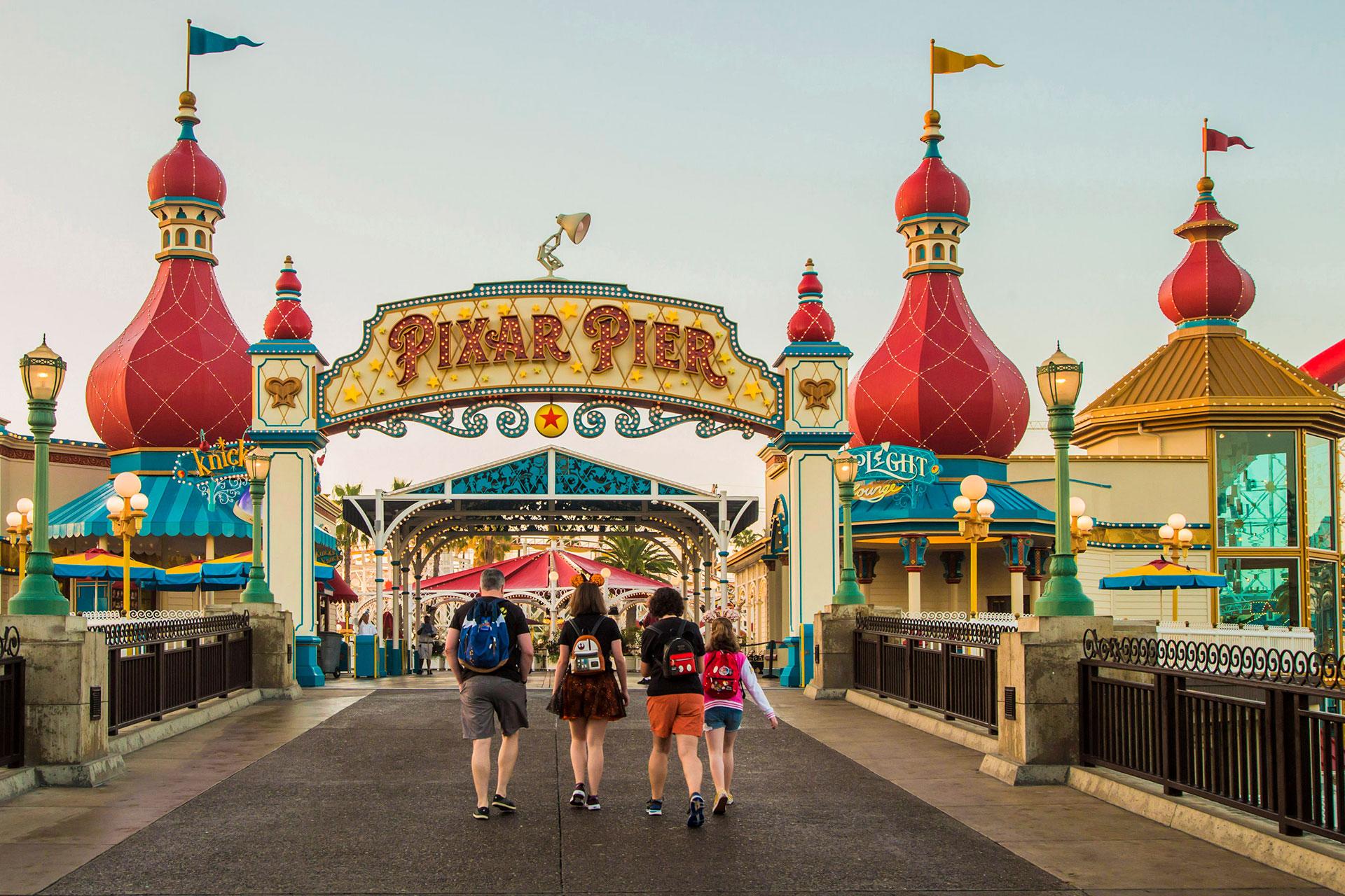 Pixar Pier at Disneyland in California; Courtesy of Disney