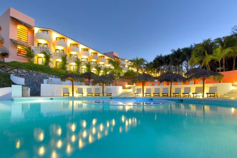 Pool at Night at Grand Palladium Vallarta Resort & Spa; Courtesy of Grand Palladium Vallarta Resort & Spa