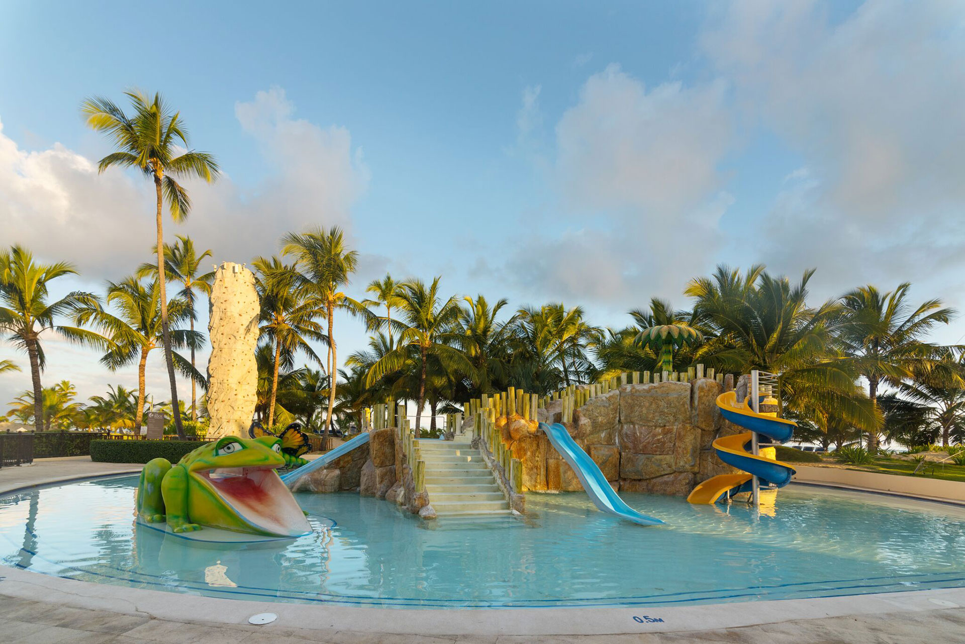 Water slides and pool at Occidental Caribe
