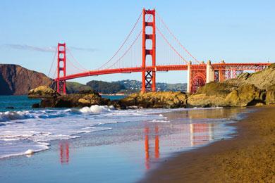 Baker Beach, San Francisco stock image. Image of