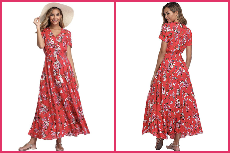 Floral Maxi Travel Dress; Courtesy of Amazon