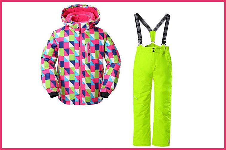 Skijakkeset Youth Girls and Boys Snow Suit ; Courtesy of Amazon
