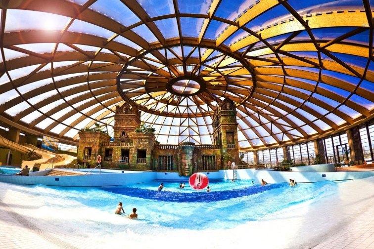 Aquaworld in Budapest, Hungary; Courtesy of Aquaworld