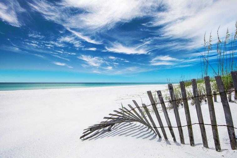 Beach in South Walton, Florida; Courtesy of Visit South Walton