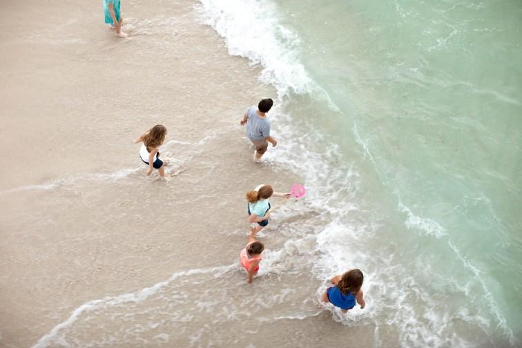 Kids on Beach in Navarre Beach, Florida