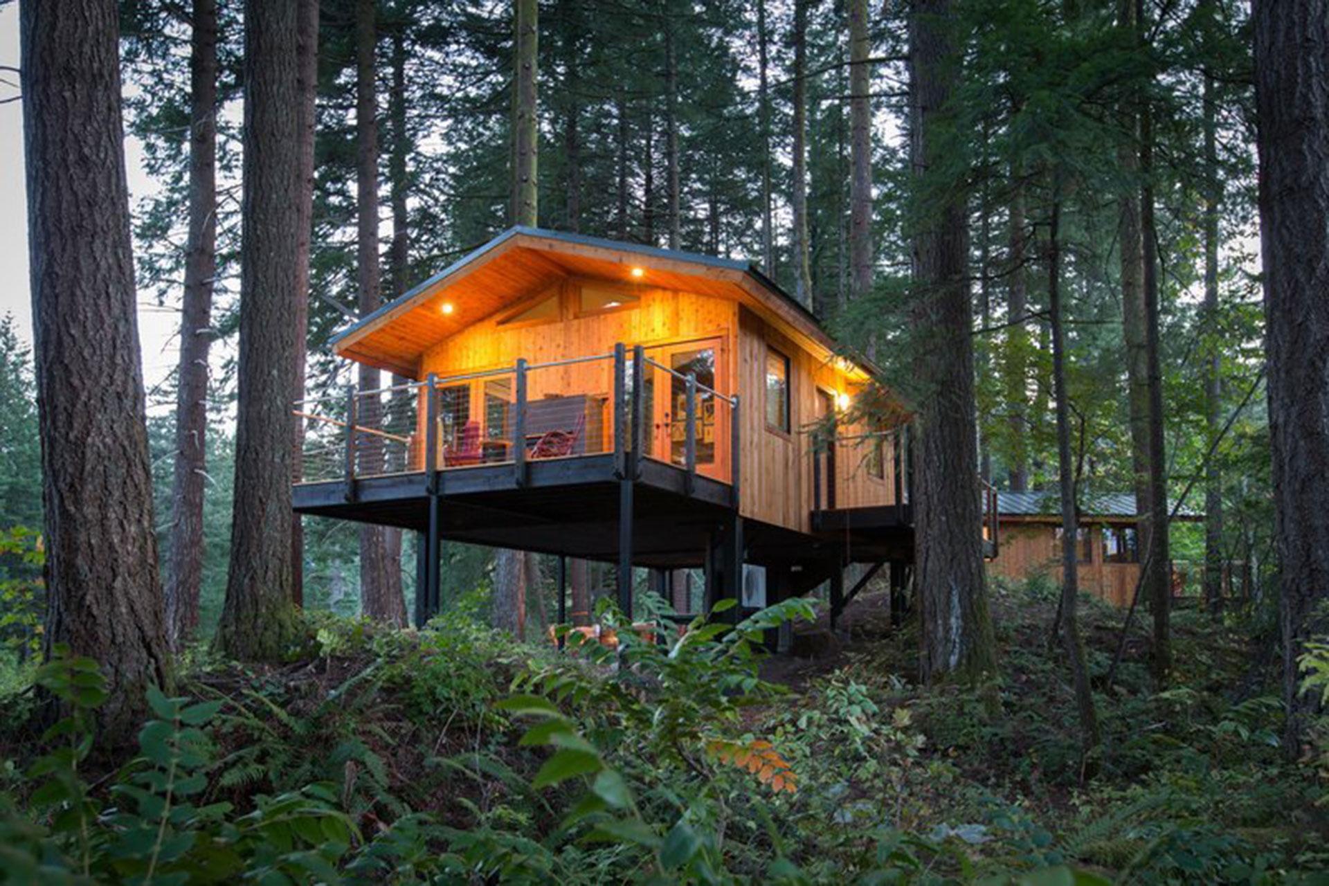 Treehouse at Skamania Lodge in Stevenson, Washington; Courtesy of Skamania Lodge