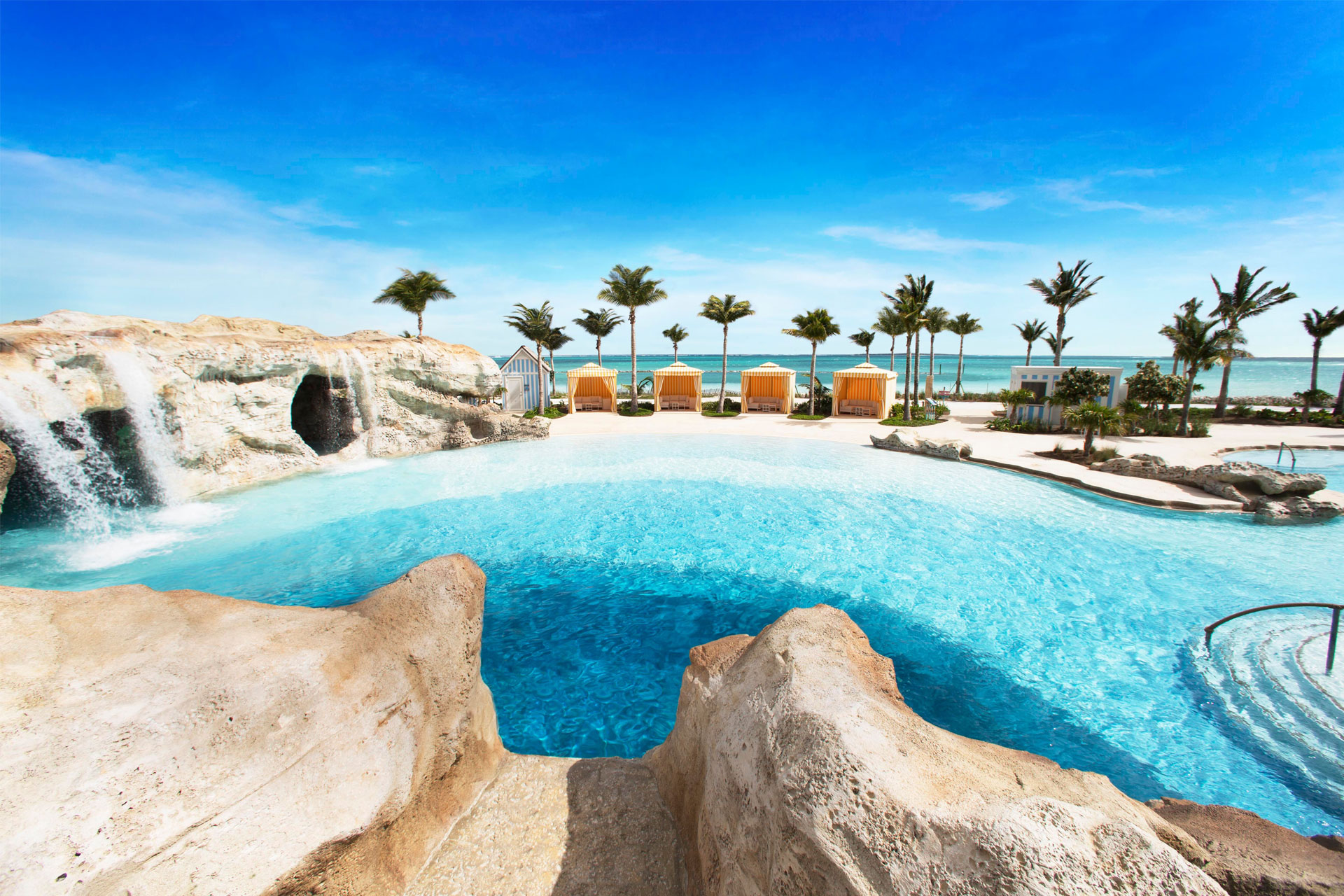 Baha Mar Blue Hole Pool; Courtesy of Baha Mar Resort