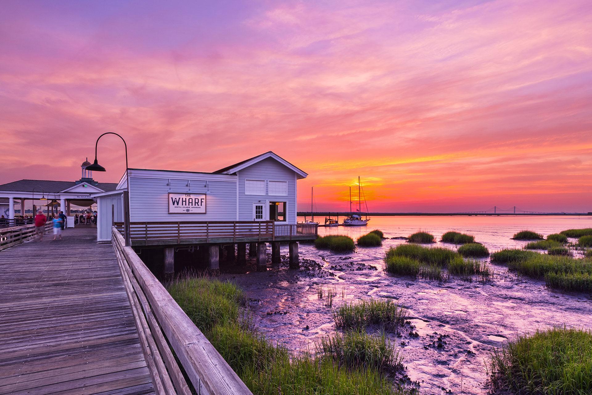 Jekyll Island at Sunset; Courtesy of Jekyll Island Club Resort