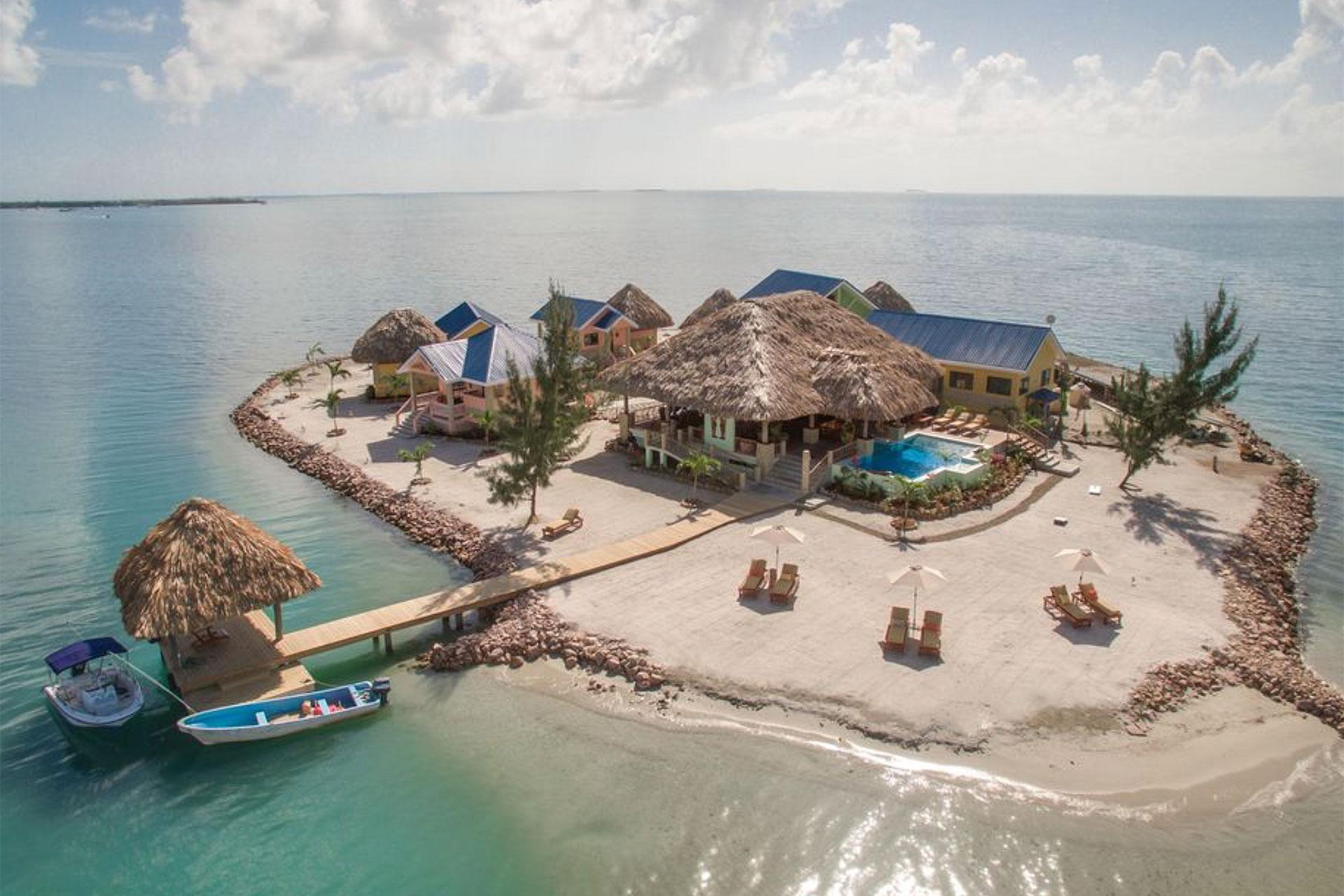 Private Island Rental in Belize; Courtesy of Vrbo