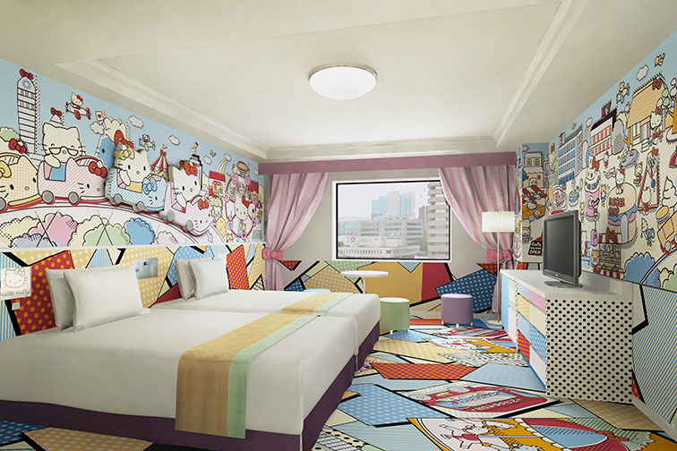 Hello Kitty Room at Keio Plaza Hotel Tama in Tokyo, Japan