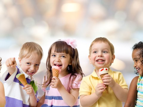 Kids Eating Ice Cream; Courtesy of Andrey_Kuzmin/Shutterstock.com