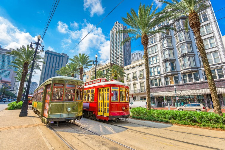 Street Cars in New Orleans, Louisiana