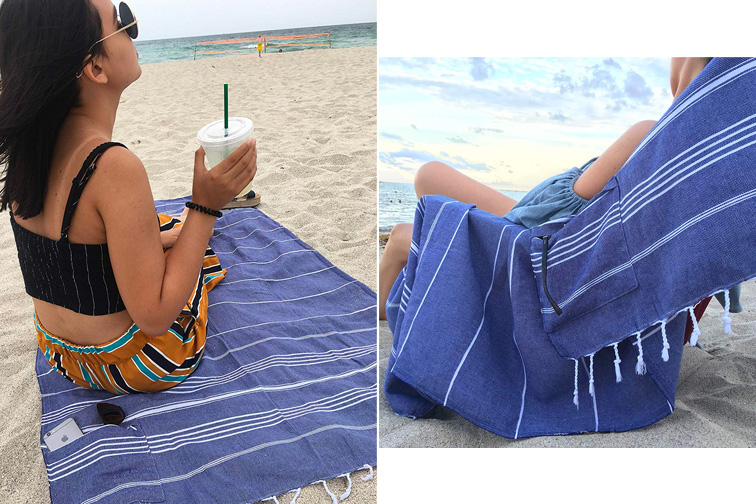 Lux Oversized Beach Towel; Courtesy of Amazon