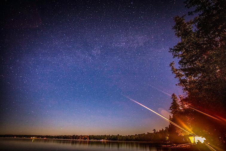 The Milky Way galaxy on a warm summer night near Onaway, Michigan; Courtesy of jeremydavis/Shutterstock
