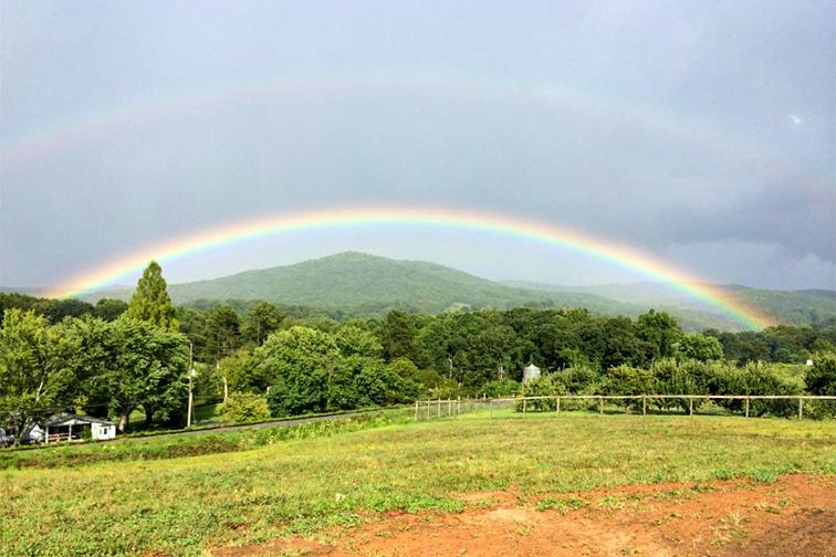 Rainbow over Reece Orchards in Elljay; Courtesy of TripAdvisor Traveler/Laura M