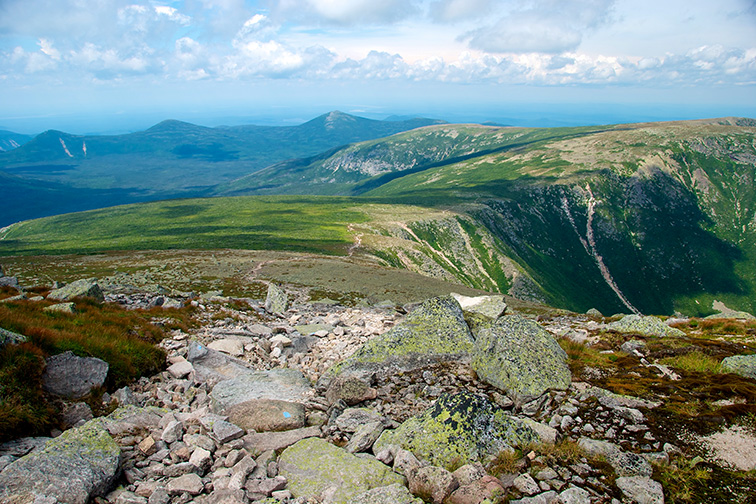 View from Ridge Leading to Summit of Mount Katahdin, Baxter State Park, Maine; Courtesy of MFlynn/Shutterstock