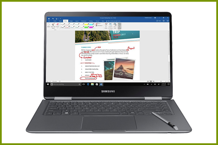"""Samsung - Notebook 9 Pro - 15"""" Touch-Screen Laptop; Courtesy of Best Buy"""