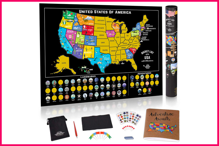 Scratch Off USA Map; Courtesy of Amazon