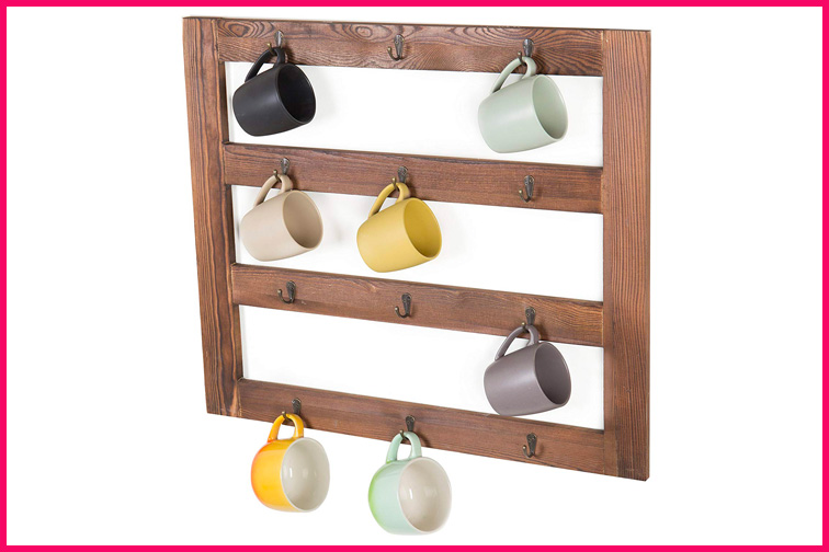 Wall-Mounted Hanging Rack from MyGift; Courtesy of Amazon
