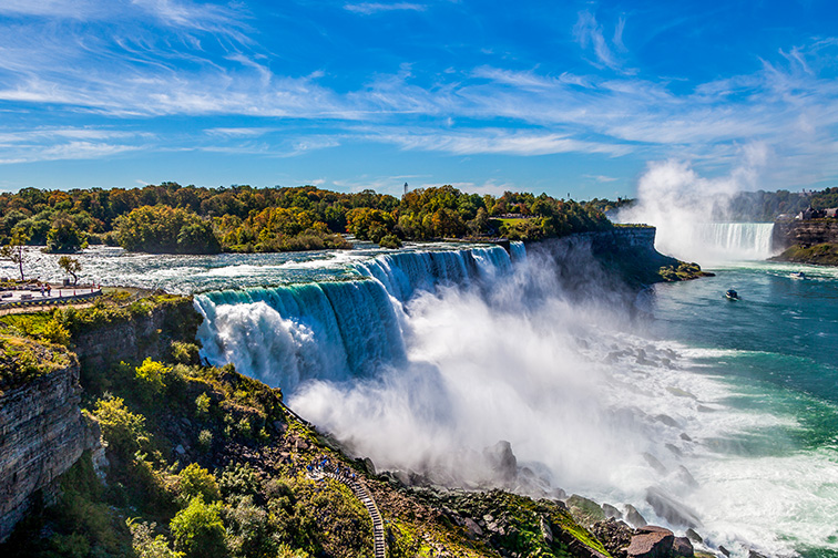 American side of Niagara falls, NY; Courtesy of turtix/Shutterstock