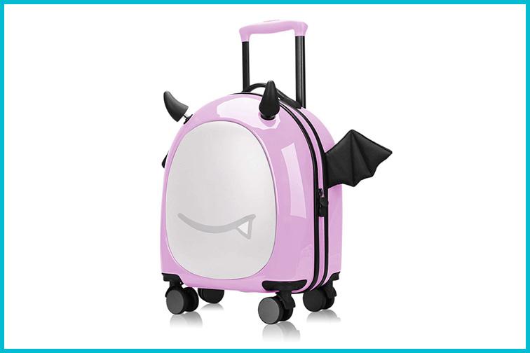 Emoji Sticker Suitcase; Courtesy of Amazon