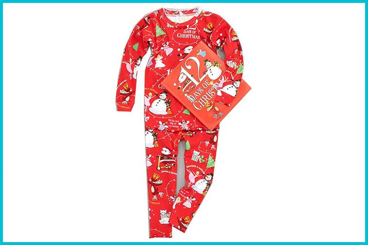 Books to Bed 12 Days of Christmas Pajamas; Courtesy of Amazon