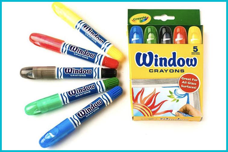 Crayola Washable Window Crayons; Courtesy of Amazon