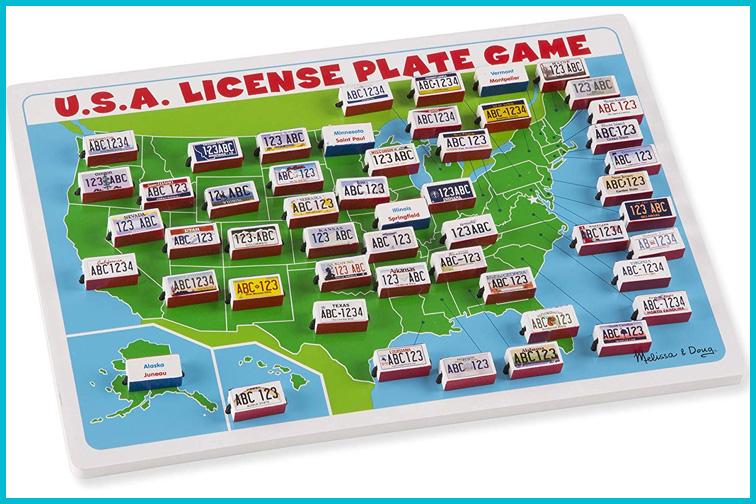 Melissa & Doug U.S.A. License Plate Game; Courtesy of Amazon