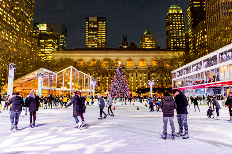 Ice-Skate for Free at the Rink in Winter Village in Bryant Park ;Courtesy of NYC & Company