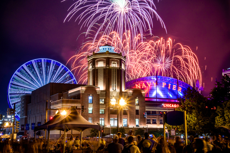Watch Free Fireworks at Navy Pier;Courtesy of Choose Chicago