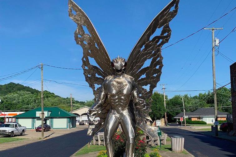mothman sculpture in Point Pleasant, WV; Courtesy of TripAdvisor Traveler/Zephyr_Travel
