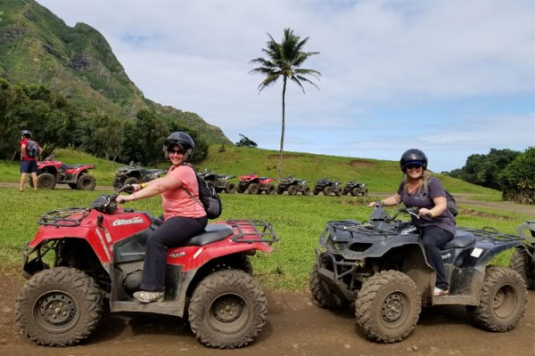 Riding ATVs in Hawaii; Courtesy of Family Vacation Critic