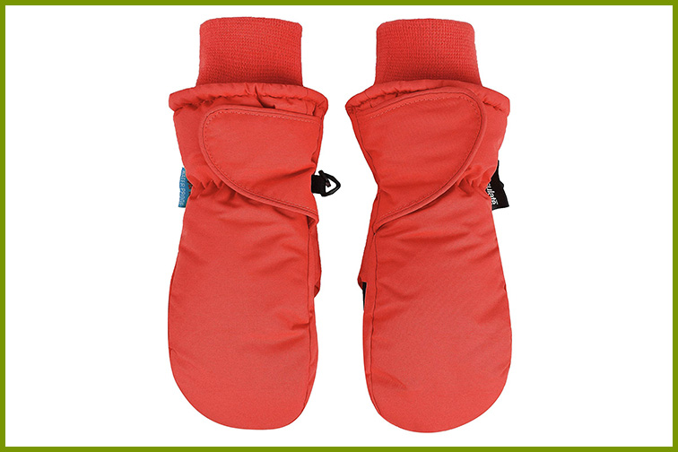 SimpliKids Children's Snow Sports Thinsulate Insulation Waterproof Winter Mittens; Courtesy of Amazon
