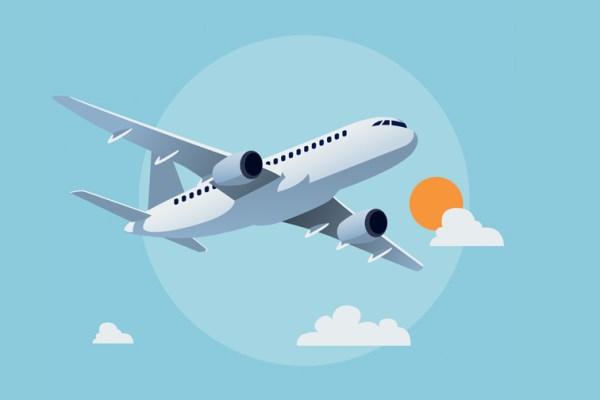 airplane flight graphic; Courtesy of Shutterstock